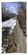 Winter On Macomb Orchard Trail Bath Towel