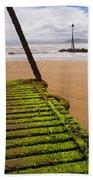 Wooden Slipway Rhos On Sea Bath Towel
