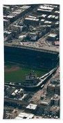 Wrigley Field From The Air Bath Towel