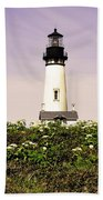Yaquina Lighthouse In May Bath Towel