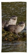 Yellowstone Otters Bath Towel
