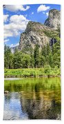 Yosemite Merced River Rafting Bath Towel
