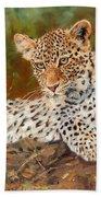 Young Leopard Bath Towel