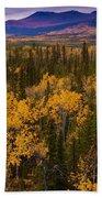 Yukon Gold - Fall In Yukon Territory Canada Bath Towel
