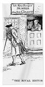 Zenger And Bradford, 1730s Hand Towel