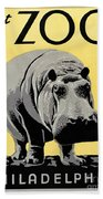 Zoo Poster C1936 Bath Towel