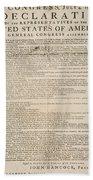 Declaration Of Independence Bath Towel