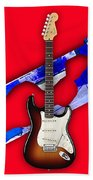 Fender Stratocaster Collection Bath Towel
