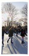 Ice Skating At Hampton Court Palace Ice Rink England Uk Bath Towel