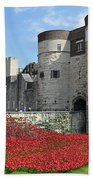 Remembrance Poppies At The Tower Of London Bath Towel