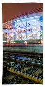 Charlotte City Skyline Night Scene Bath Towel