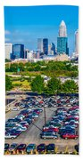 Skyline Of Uptown Charlotte North Carolina Bath Towel