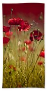 Summer Poppy Bath Towel
