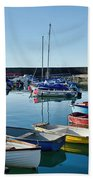 Lyme Regis Harbour Bath Towel