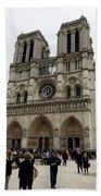 Notre Dame In Paris France Bath Towel
