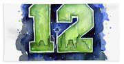 12th Man Seahawks Art Seattle Go Hawks Bath Towel