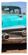 Route 66 Classic Car Bath Towel