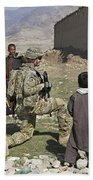 U.s. Army Soldier Provides Security Bath Towel