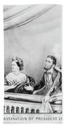 Lincoln Assassination Bath Towel