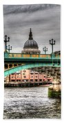 Southwark Bridge London Bath Towel
