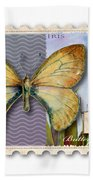15 Cent Butterfly Stamp Bath Towel