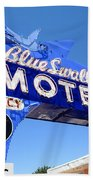 Route 66 - Blue Swallow Motel Bath Towel