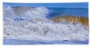 Hurricane Storm Waves Bath Towel
