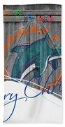 Miami Dolphins Bath Towel by Joe Hamilton