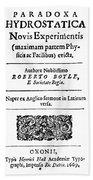 Robert Boyle (1627-1691) Hand Towel