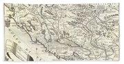 1690 Coronelli Map Of Montenegro Bath Towel