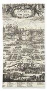 1697 Pufendorf View Of Krakow Cracow Poland Bath Towel