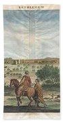 1698 De Bruijin View Of Bethlehem Palestine Israel Holy Land Bath Towel