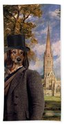 Dachshund Art Canvas Print Bath Towel