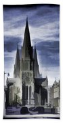 View Of Episcopal Cathedral In Edinburgh Bath Towel