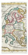 1706 De La Feuille Map Of Europe Bath Towel