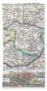 1710 De La Feuille Map Of Transylvania  Moldova Bath Towel