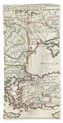 1715 De  Lisle Map Of The Eastern Roman Empire Under Constantine  Bath Towel