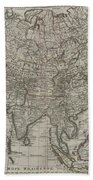 1745 Asia Map Bath Towel