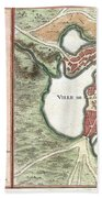 1756 Bellin Map Of Boston Massachusetts Bath Towel