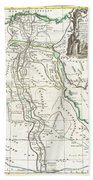 1762 Bonne Map Of Egypt  Bath Towel