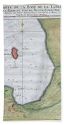 1763 Bellin Map Of Cape Town  Bath Towel