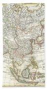 1770 Janvier Map Of Asia Bath Towel