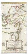 1771 Bonne Map Of The New Testament Lands Holy Land And Jerusalem Bath Towel