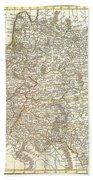 1771 Zannoni Map Of Poland And Lithuania Bath Towel