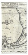 1773 Bellin Map Of The Cape Of Good Hope Capetown South Africa Bath Towel