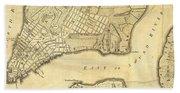 1776 New York City Map Hand Towel