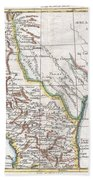 1780 Raynal And Bonne Map Of Mexico And Texas  Bath Towel