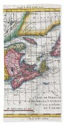 1780 Raynal And Bonne Map Of New England And The Maritime Provinces Bath Towel
