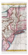1780 Raynal And Bonne Map Of Northern United States Bath Towel
