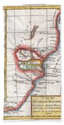 1780 Raynal And Bonne Map Of South Africa Zimbabwe Madagascar And Mozambique Bath Towel